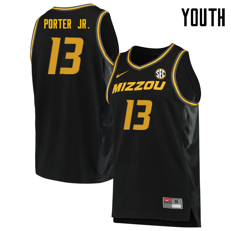 Youth #13 Michael Porter Jr. Missouri Tigers College Basketball Jerseys Sale-Black